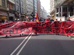 Solidariedade con Pepita no  1 de Maio en A Coruña